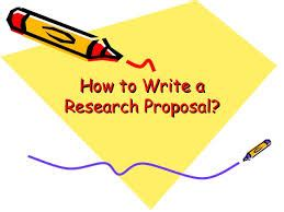 Importance of preparing a research proposal